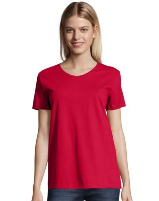 Hanes Relaxed Fit Women's ComfortSoft® V-neck T-Shirt