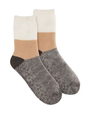 Dearfoams Women's Cabin Multi Colored Slipper Sock