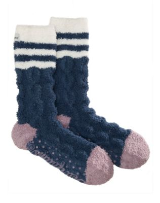 Dearfoams Women's Cable Knit Cozy Slipper Sock