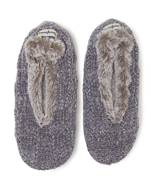 Dearfoams Women's Chenille Knit Toasty Slipper Sock