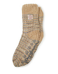 Dearfoams Women's Space Dye Knit Flurry Slipper Sock