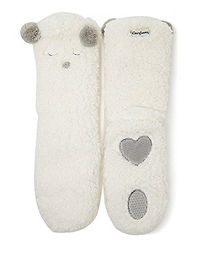 Dearfoams Women's Animal Flurry Slipper Sock