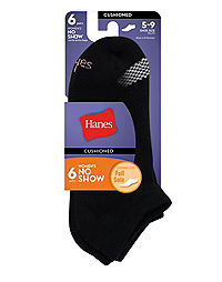 Hanes Women's Cool Comfort® No Show Socks 6-Pack
