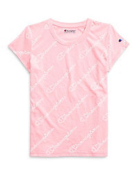 Champion Girls' Tee, All Over Logo