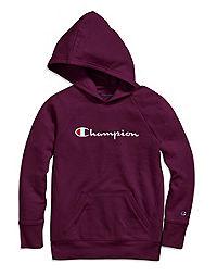 Champion Girls' Raglan Hoodie, Script Logo