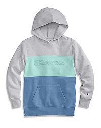 Champion Girls' Colorblocked Hoodie, Script Logo