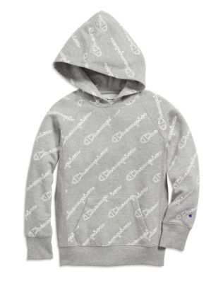 Champion Girls' Raglan Hoodie, All Over Logo