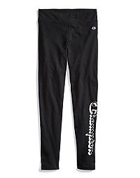 Champion Girls Retro Leggings, Script Logo