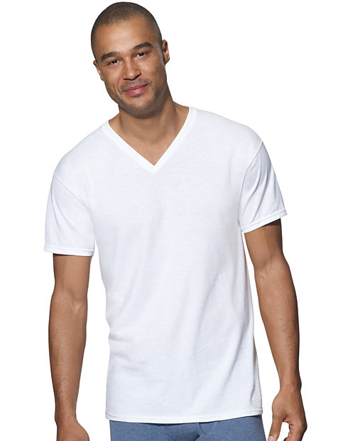 62862497 Hanes Ultimate™ Men's ComfortSoft® V-Neck Undershirt 3-Pack | Hanes