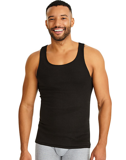 9a62242d8476b2 Hanes Ultimate™ Men s ComfortSoft® Dyed Tank Undershirt 4-Pack
