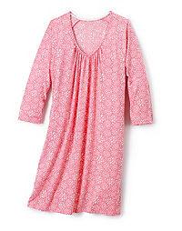 Hanes Women's Plus ComfortSoft® 3/4 Sleeve Raglan Sleepshirt