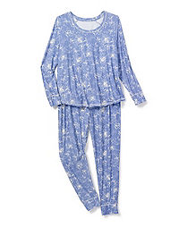 Hanes Women's Plus Yummy Jersey PJ Set