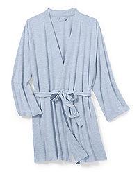 Hanes Women's Plus Heathered French Terry Wrap Robe