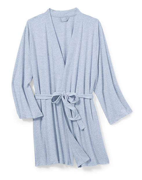 Hanes Women's Plus Heathered French Terry Wrap Robe