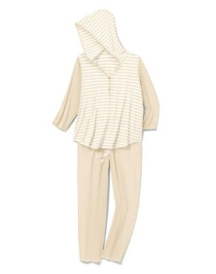 Hanes Women's Plus Striped Lounge PJ's
