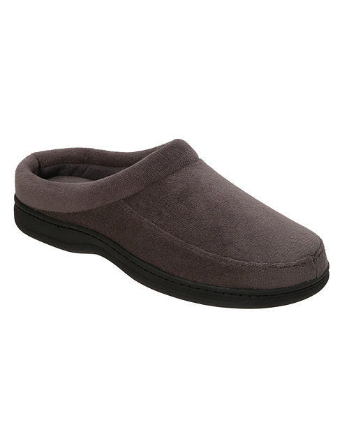 Hanes Men's Dearfoam Corduroy Moccassin Clogs with Memory Foam