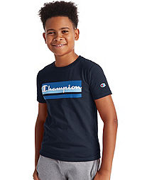 Champion Youth Tee, Colorblocked Logo