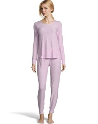 Jersey Long Sleeve PJ Set--Pink