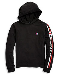 Champion Youth Middleweight Hoodie, Vertical Script Logo