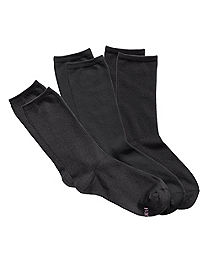 Hanes ComfortSoft® Women's Crew Socks,Fits shoe sizes up to 8-12, 3-Pack