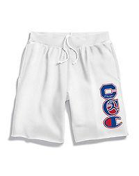 Champion Life® Men's Reverse Weave™ Cut-Off Shorts, Multi Felt Logos
