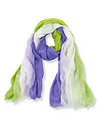 Vertical Ombre Scarf w/Fringe