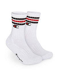 Champion Life™ C Logo Stripe Crew Sock 1-Pair