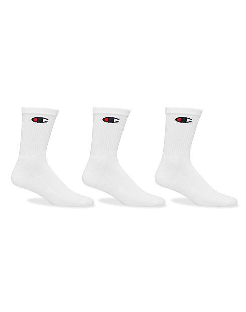 cb1a529f Champion Life™ Classic Logo Crew Socks, 3-Pack   Champion