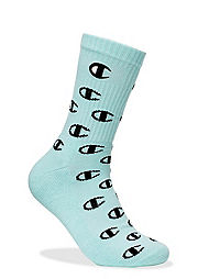 Champion Life™ Allover C Crew Socks, Embroidered C Logo, 1-Pair