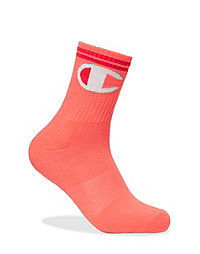 Champion Life™ Big C Logo Mid-Crew Socks, 1-Pair