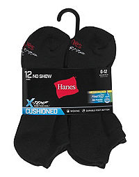 Hanes Men's FreshIQ® X-Temp® Active Cool® No-Show Socks 12-Pack