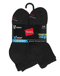 Hanes Men's FreshIQ? X-Temp? Active Cool? Ankle Socks 12-Pack