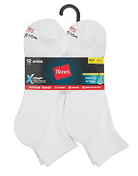 Hanes Men's FreshIQ® X-Temp® Active Cool® Big and Tall Ankle Socks 12-Pack