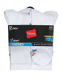 Hanes Men's FreshIQ® X-Temp® Active Cool® Crew Socks 12-Pack