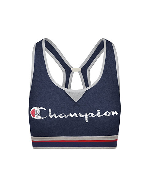 Champion The Authentic Sports Bra, Two-Color Logo