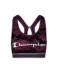 Champion The Authentic Camo Sports Bra, Distressed Logo