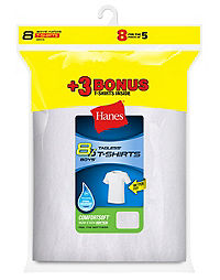 Hanes Boys' ComfortSoft® Crewneck Undershirt 8-Pack (Includes 3 free bonus undershirts)