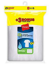 41daa78efb1 Hanes Boys  ComfortSoft® Crewneck Undershirt 8-Pack (Includes 3 free bonus  undershirts