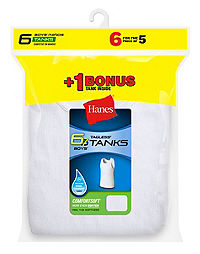 Hanes Boys' TAGLESS® ComfortSoft® A-Shirt 6-Pack (Includes 1 Free Bonus A-Shirt)
