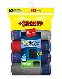 2 Hanes Boys Cool Comfort Boxer Briefs 10-Pack