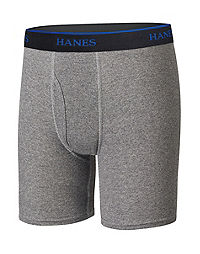 Hanes Ultimate® Boys' Lightweight Long Leg Boxer Briefs 4-Pack