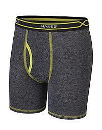 004f62023466 Hanes X-Temp® Boys' Long Leg Boxer Brief with Comfort Flex® Waistband