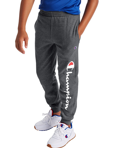 Champion Little Boys' Fleece Joggers, Script Logo