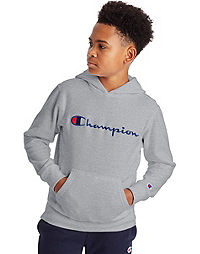 Champion Little Boys' Fleece Hoodie, Script Logo