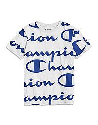 Champion Life® Kids' Heritage Tee, Allover Logo