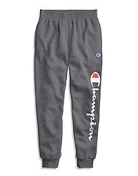 Champion Youth Fleece Heritage Joggers, Vertical Logo