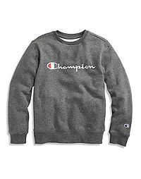 Champion Youth Fleece Crew, Embroidered Logo