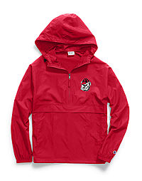 Champion Collegiate Packable Jacket, Georgia Bulldogs