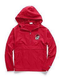 Champion Collegiate Packable Jacket, Georgia Bulldogs