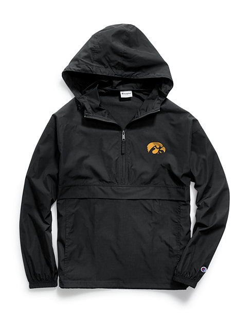 Champion Collegiate Packable Jacket, Iowa Hawkeyes